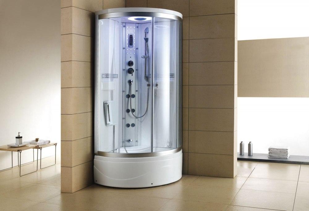 cabine de douche hydromassante avec hammam et baignoire at 001 1. Black Bedroom Furniture Sets. Home Design Ideas