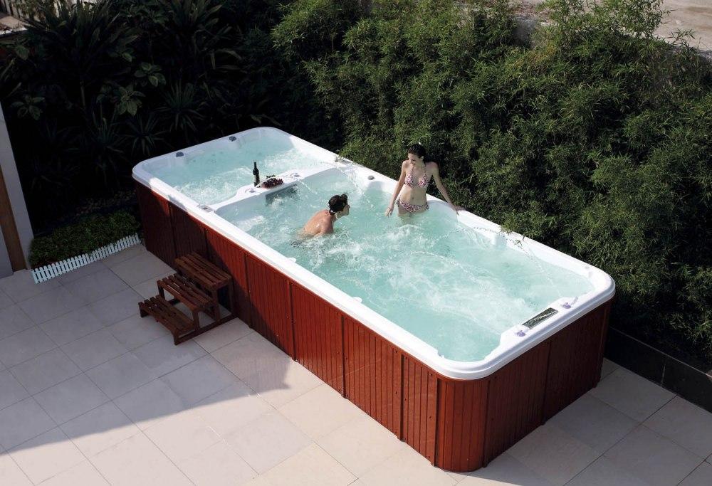 Piscine spa de nage at 004 for Spa piscine