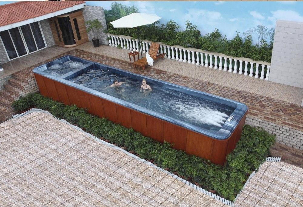 piscine spa de nage at 008. Black Bedroom Furniture Sets. Home Design Ideas