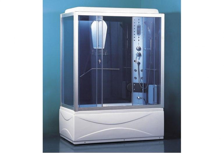 cabine de douche hydromassante avec hammam et baignoire at 007b. Black Bedroom Furniture Sets. Home Design Ideas