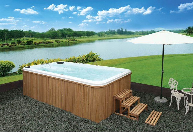 piscine spa de nage at 003. Black Bedroom Furniture Sets. Home Design Ideas