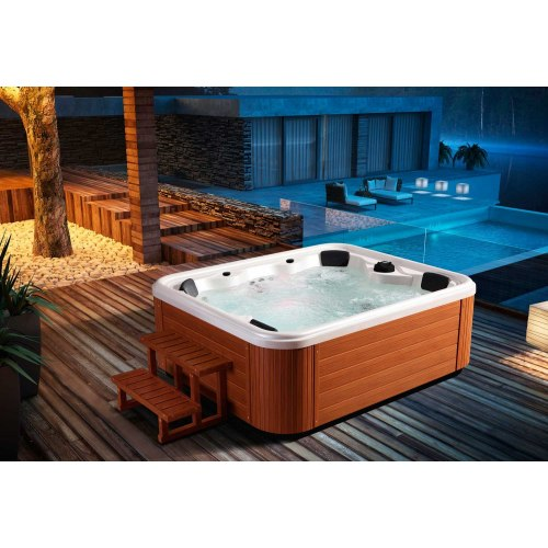 jacuzzi spa exterieur simple o installer un spa gonflable. Black Bedroom Furniture Sets. Home Design Ideas