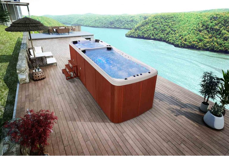 piscine spa de nage au 002. Black Bedroom Furniture Sets. Home Design Ideas