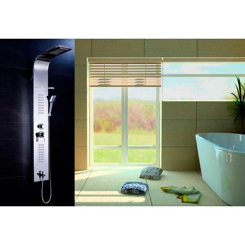 Colonne de douche et colonne d hydromassage panneau - Colonne de douche hydromassante pas cher ...